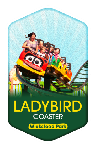 Ladybird Coaster - Wicksteed Park Rides and a Attractions