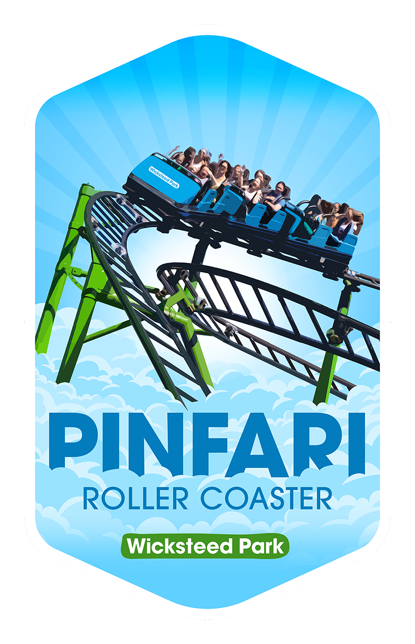 Pinfari Roller Coaster - Wicksteed Park Rides and a Attractions
