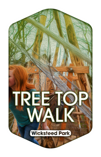 Tree Top Walk - Wicksteed Park Rides and a Attractions